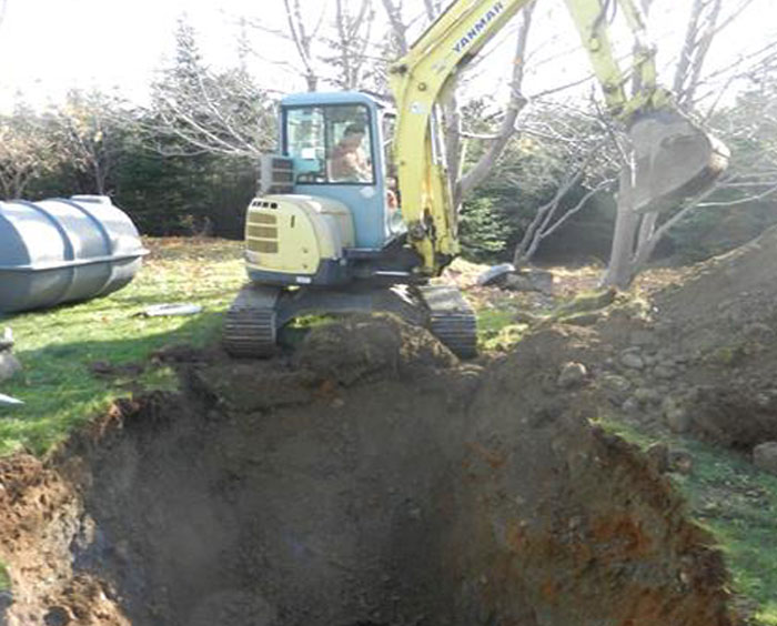 Digging a septic pit